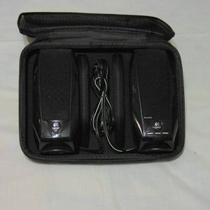 Other - Logitech Computer Speakers with Case